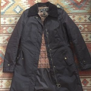 Women's Barbour Trench Coat with Collar